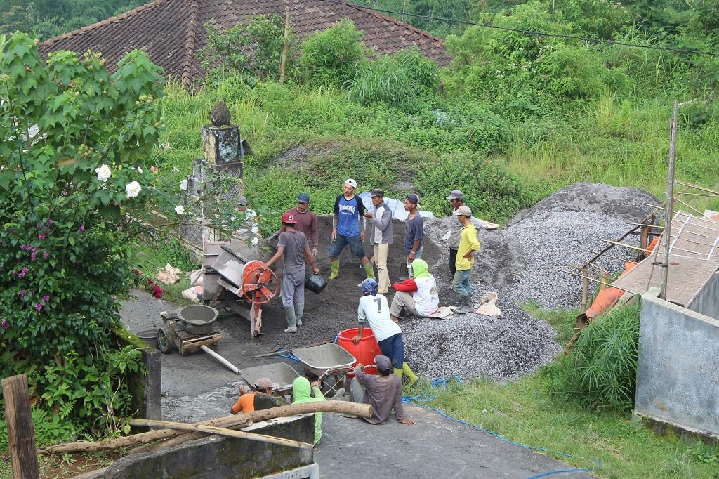 Image : pembangunan jalan gang Desa Girimulyo